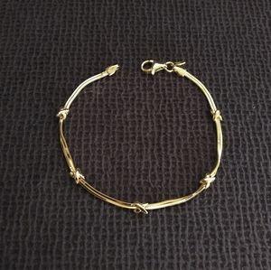 Mia Fiore Double✌️ Strand Gold Bracelet - NIB